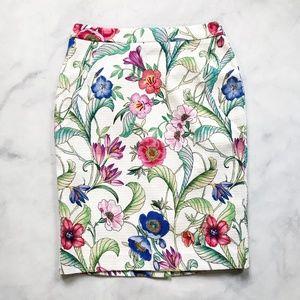 Ann Taylor Floral Print Pencil Skirt